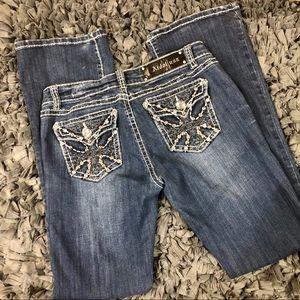 LA Idol bling pocket blue jeans